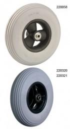 Rad mit PU-Reifen (Felge mit 3 Speichen)