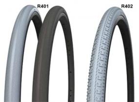 Reifen aus PU, 22 x 1 Zoll, 570 x 25 mm, Farbe grau Profil R401, ETRTO 25 - 489 mm
