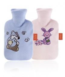 Wärmflasche mit Flauschbezug für Kinder