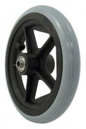 Rad mit PU-Reifen (Felge mit 5 Speichen)
