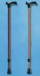 Metall-Gehstock, Druckknopfverstellung, Anatomic-Griff