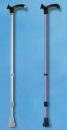 Metall-Gehstock, Clipverstellung, Anatomic-Griff