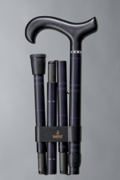 Carbon-Soft-Faltstock, Karo blau matt