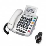 Seniorentelefon mit Fallsensorarmband (Serenitieskomplettpack)